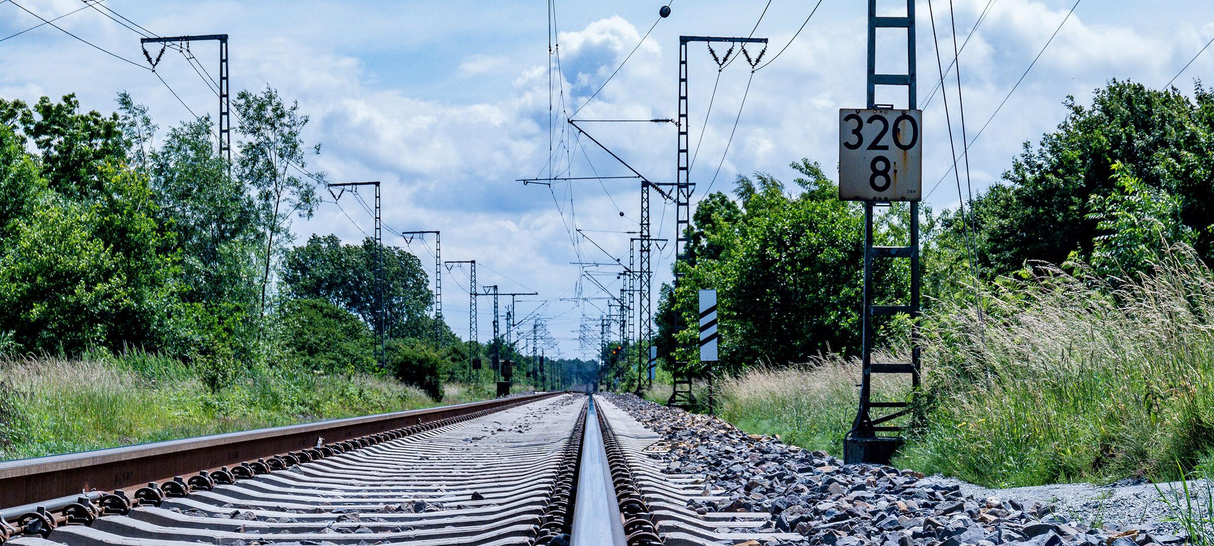 Bild einer Bahnschiene