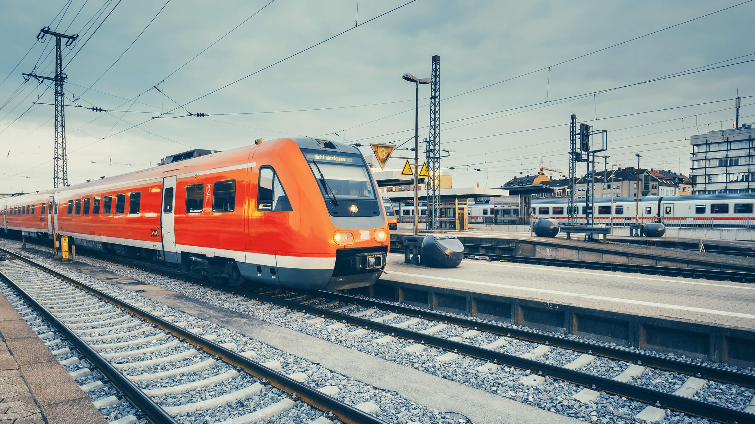 Bild einfahrender Zug